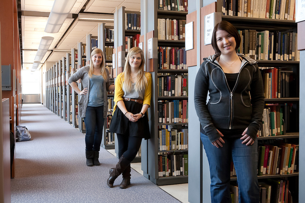 Stauffer Library with Cassie Miller, Lydia Beck and Julia Urieno