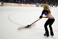 Los Angeles Kings Ice Girls during ice-hockey match between Los Angeles Kings and Colorado Avalanche in NHL league, Februar 26, 2011 at Staples Center, Los Angeles, USA. (Photo By Matic Klansek Velej / Sportida.com)