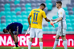 Roko Baturina of NK Bravo shakes hand with Kenan Piric of NK Maribor during football match between NK Bravo and NK Maribor in 34. Round of Prva liga Telekom Slovenije 2019/20, on July 15. 2020 in Stadium Stozice, Ljubljana, Slovenia. Photo by Grega Valancic / Sportida.