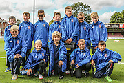 York City Ball Boys prior to the Sky Bet League 2 match between York City and Mansfield Town at Bootham Crescent, York, England on 29 August 2015. Photo by Simon Davies.