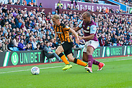 Jarrod Bowen of Hull City under pressure from Gabriel Agbonlahor of Aston Villa during the Sky Bet Championship match at Villa Park, Birmingham<br /> Picture by Matt Wilkinson/Focus Images Ltd 07814 960751<br /> 05/08/2017