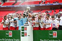 Stevenage Borough celebrate with the FA Trophy<br /> Stevenage Borough vs York City <br /> Carlsberg FA Trophy Final at Wembley Stadium 2/05/2009<br /> Credit Colorsport / Shaun Boggust