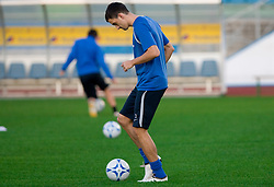 Branko Ilic of Slovenian National football team at practice a day before the last 2010 FIFA Qualifications match between San Marino and Slovenia, on October 13, 2009, in Olimpico Stadium, Serravalle, San Marino.  (Photo by Vid Ponikvar / Sportida)