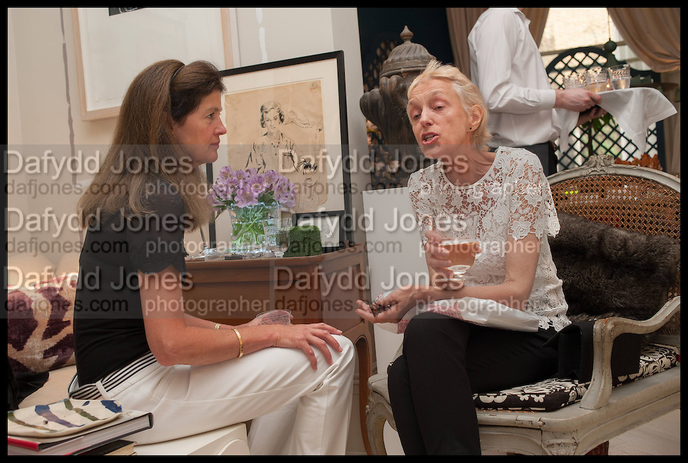 LADY HENRIETTA SPENCER-CHURCHILL; MELISSA WYNDHAM, Nicky Haslam hosts a party to launch a book by  Maureen Footer 'George Stacey and the Creation of American Chic' . With a foreword by Mario Buatta. Kensington. London. 11 June 2014