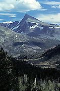 Mt Dana from the Saddlebag Lake road.  The start of Lee Vining Creek is below in the valley.  Outside Yosemite, NP.  USA