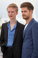 Actor Victor Polster and Director Lukas Dhont<br /> at the Girl film photo call at the 71st Cannes Film Festival, Sunday 13th May 2018, Cannes, France. Photo credit: Doreen Kennedy
