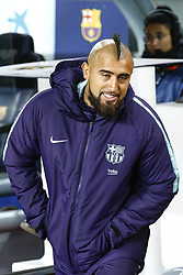 January 13, 2019 - Barcelona, Catalonia, Spain - FC Barcelona midfielder Arturo Vidal (22) during the match FC Barcelona against Eibar, for the round 19 of the Liga Santander, played at Camp Nou  on 13th January 2019 in Barcelona, Spain. (Credit Image: © Mikel Trigueros/NurPhoto via ZUMA Press)