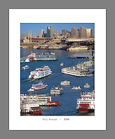Custom printed, signed, and numbered 19x24 poster collage of the final Tall Stacks festival in Cincinnati in 2006.
