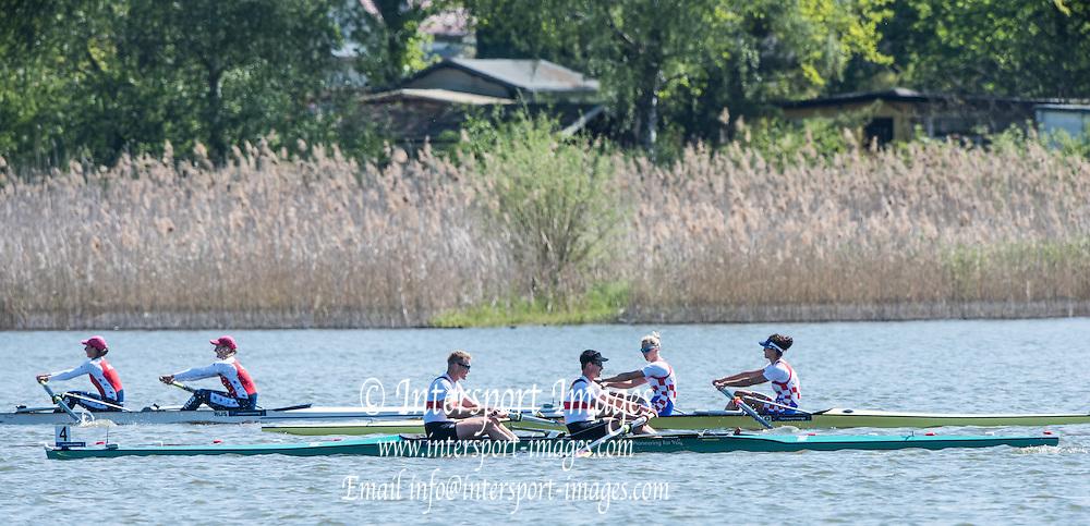 Brandenburg. GERMANY. GBR M2-. Bow Alan SINC:AIR and Stewart INNES. <br /> 2016 European Rowing Championships at the Regattastrecke Beetzsee<br /> <br /> Saturday  07/05/2016<br /> <br /> [Mandatory Credit; Peter SPURRIER/Intersport-images]