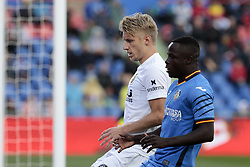November 10, 2018 - Getafe, Madrid, Spain - Getafe CF's Amath Ndiaye and Valencia CF's Daniel Wass during La Liga match between Getafe CF and Valencia CF at Coliseum Alfonso Perez in Getafe, Spain. November 10, 2018. (Credit Image: © A. Ware/NurPhoto via ZUMA Press)