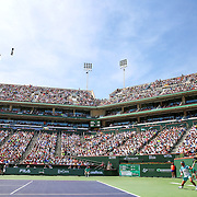 March 19, 2016, Palm Springs, CA:<br /> The stadium is shown during the men's semi-final match between Novak Djokovic and Rafael Nadal during the 2016 BNP Paribas Open at the Indian Wells Tennis Garden in Indian Wells, California Saturday, March 19, 2016.<br /> (Photos by Billie Weiss/BNP Paribas Open)