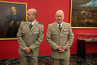 The new Foreign Legion Museum, in Aubagne.<br /> General of Division J. Maurin(R), Commander of the French Foreign Legion, and Warrant Officer Rowe in the Honour's Hall of Foreign Legion's Museum in Aubagne.