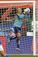July 1, 2007 - Kansas City, MO..Kansas City Wizards Goal Keeper Kevin Hartman goes up high to make a save off a shot on goal from the Toronto FC in the first half at Arrowhead Stadium in Kansas City, Missouri on July 1, 2007...MLS:  The Toronto FC and Wizards ended in a 1-1 tie.   .Photo by Peter G. Aiken / Cal Sport Media
