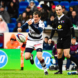 Baptiste Serin of Bordeaux Begles during the French Top 14 match between Bordeaux Begles and Pau at Stade Chaban-Delmas on April 7, 2018 in Bordeaux, France. (Photo by Caroline Blumberg/Icon Sport)