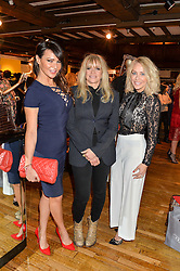 Left to right, LIZZIE CUNDY, JO WOOD and LAURA HAMILTON at an exclusive out of hours shopping evening 'Gifts for Goddesses' hosted by Mollie King in aid of mothers2mothers held at Liberty, Regent Street, London on 2nd March 2016.