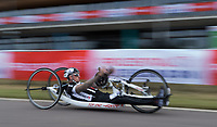 Andrew Darby in action during the Prudential RideLondon Handcycle Grand Prix. <br /> <br /> Prudential RideLondon 28/07/2017<br /> <br /> Photo: Tom Lovelock/Silverhub for Prudential RideLondon<br /> <br /> Prudential RideLondon is the world&rsquo;s greatest festival of cycling, involving 100,000+ cyclists &ndash; from Olympic champions to a free family fun ride - riding in events over closed roads in London and Surrey over the weekend of 28th to 30th July 2017. <br /> <br /> See www.PrudentialRideLondon.co.uk for more.<br /> <br /> For further information: media@londonmarathonevents.co.uk