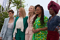 Jury members Kristen Stewart, Léa Seydoux, Jury President Cate Blanchett, Ava DuVernay, Khadja Nin at the Jury photo call at the 71st Cannes Film Festival Tuesday 8th May 2018, Cannes, France. Photo credit: Doreen Kennedy