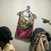A dress, almost finished in Lydie Malingumu's atelier. CAPTA/FEDERICO SCOPPA