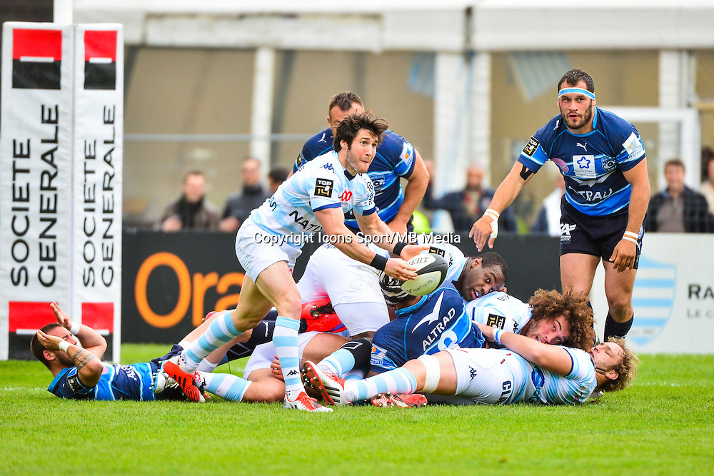 Maxime MACHENAUD  - 11.04.2015 - Racing Metro / Montpellier  - 22eme journee de Top 14 <br />