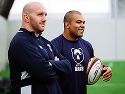 Kyle Sinckler and Yann Thomas as Bristol Bears start to use their new almost completed Training centre - Rogan/JMP - 08/07/2020 - RUGBY UNION - Beggar Bush Lane - Bristol, England.