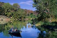 Boat fishing at Anderson Marsh S.H.P. near Lower Lake, Clear Lake, Lake County, California