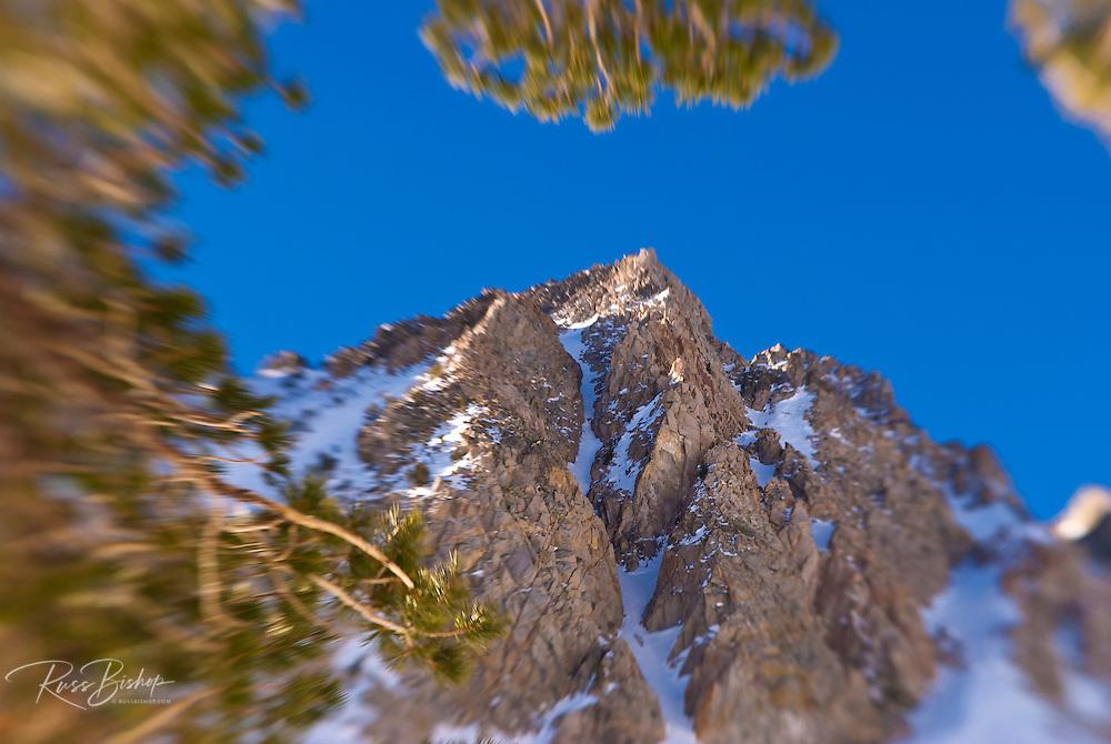 The Sierra crest below Piute Pass, Inyo National Forest, Sierra Nevada Mountains, California