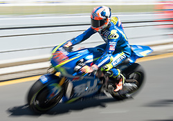 October 20, 2017 - Melbourne, Victoria, Australia - Spanish rider Axel Rins (#42) of Team SUZUKI ECSTAR in action during the first free practice session of the MotoGP class at the 2017 Australian MotoGP at Phillip Island, Australia. (Credit Image: © Theo Karanikos via ZUMA Wire)