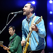 COLUMBIA, MD - April 28th, 2012 -   James Mercer (right) of The Sins performs at the 2012 Sweetlife Food and Music Festival at Merriweather Post Pavilion in Columbia, MD.  The band is currently touring behind their latest album, Port of Morrow. (Photo by Kyle Gustafson/For The Washington Post)