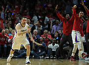 Los Angeles Clippers guard J.J. Redick #4 celebrates making a 3 point shot in the 2nd quarter. The Los Angeles Clippers played the Portland Trail Blazers in game 5 of the NBA Western Conference Playoffs first round. Los Angeles, CA.  April 27, 2016. (Photo by John McCoy/Southern California News Group)