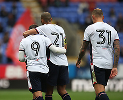 Adam Le Fondre of Bolton Wanderers (L) celebrates after scoring his sides first goal - Mandatory by-line: Jack Phillips/JMP - 29/07/2017 - FOOTBALL - Macron Stadium - Bolton, England - Bolton Wanderers v Stoke City - Pre-Season Club Friendly