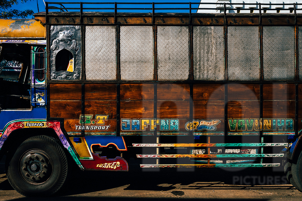 A lorry in the central market in downtown Jaffna, Sri Lanka, Asia