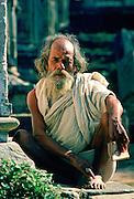 Holy man at Hindu Temple at Pashupatinath, Nepal.