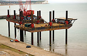 Titan heavy lift barge at Newhaven, East Sussex, England