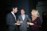 ALASDHAIR WILLIS, KIRSTY YOUNG AND NICK JONES, Dinner given by Established and Sons to celebrate Elevating Design.  P3 Space. University of Westminster, 35 Marylebone Rd. London NW1. -DO NOT ARCHIVE-© Copyright Photograph by Dafydd Jones. 248 Clapham Rd. London SW9 0PZ. Tel 0207 820 0771. www.dafjones.com.