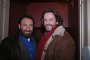 Tony Sher and Greg Doran, Opening night of Embers, Duke of York's theatre. St. Martin's Lane. London. 1 March 2006. ONE TIME USE ONLY - DO NOT ARCHIVE  © Copyright Photograph by Dafydd Jones 66 Stockwell Park Rd. London SW9 0DA Tel 020 7733 0108 www.dafjones.com