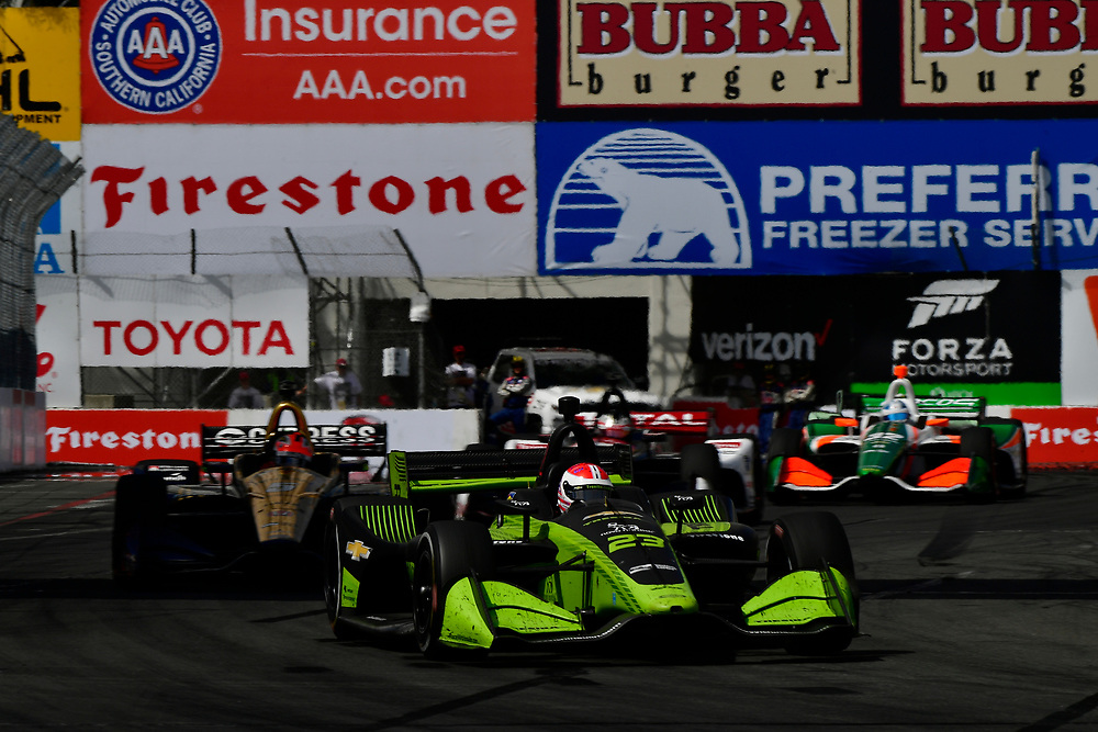 Charlie Kimball, Carlin Chevrolet<br /> Sunday 15 April 2018<br /> Toyota Grand Prix of Long Beach<br /> Verizon IndyCar Series<br /> Streets of Long Beach, California USA<br /> World Copyright: Scott R LePage<br /> LAT Images