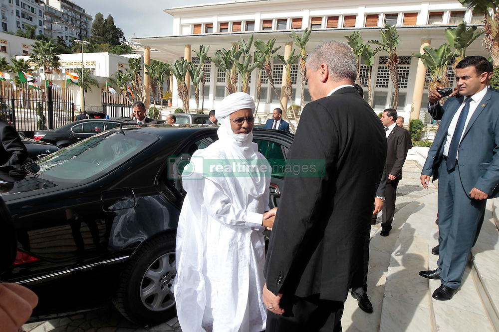 Algerian PM Abdelmalek Sellal greets his Nigerien counterpart Brig Rafini at the Government palace in Algiers, Algeria, October 27, 2016. Photo by Billal Bensalem/APP/ABACARESS.COM