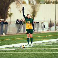 2nd year mid-fielder, Taylor Bubnick (28) of the Regina Cougars during the Women's Soccer home game on Sun Sep 23 at U of R Field. Credit: Arthur Ward/Arthur Images