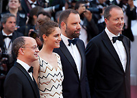 Ed Guiney, Ariane Labed, Director Yorgos Lanthimos, and Andrew Lowe arriving to the Closing Ceremony and awards at the 70th Cannes Film Festival Sunday 28th May 2017, Cannes, France. Photo credit: Doreen Kennedy