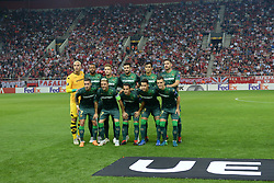 September 20, 2018 - Piraeus, Attiki, Greece - Commemorative photo of Real Betis team. (Credit Image: © Dimitrios Karvountzis/Pacific Press via ZUMA Wire)
