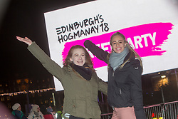 Jade Wilson and Courtney Rasmussen. Edinburgh's Hogmanay Street Party, Sunday 31st December