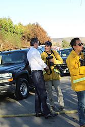 Gavin Newsom the new governor he spotted talking to fire guys in Malibu. 07 Nov 2018 Pictured: Gavin Newsom. Photo credit: MEGA TheMegaAgency.com +1 888 505 6342