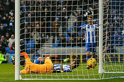 Goal, Sam Baldock of Brighton & Hove Albion scores, Brighton & Hove Albion 2-0 Burton Albion - Mandatory by-line: Jason Brown/JMP - 11/02/2017 - FOOTBALL - Amex Stadium - Brighton, England - Brighton and Hove Albion v Burton Albion - Sky Bet Championship