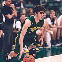 1st year forward, Matt Barnard (7) of the Regina Cougars during the Men's Basketball Home Game on Sat Nov 03 at Centre for Kinesiology,Health and Sport. Credit: Arthur Ward/Arthur Images
