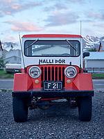 Old Jeep at Siglurfjörður, North Iceland.