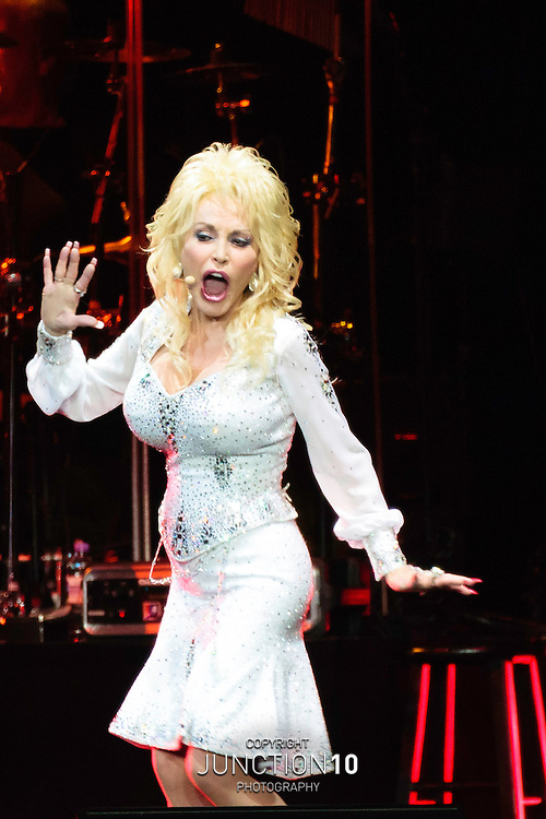 Dolly Parton in concert at the LG Arena, Birmingham, United Kingdom<br /> Picture Date: 22 June, 2014