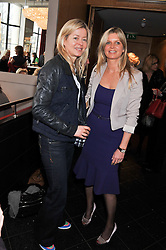 Left to right, LADY HELEN TAYLOR and the MARCHIONESS OF MILFORD HAVEN at a ladies lunch in support of Maggie's Barts hosted by Judy Naake, Clara Weatherall and Caroline Collins at Le Cafe Anglais, 8 Porchester Gardens, London W2 on 19th March 2013.
