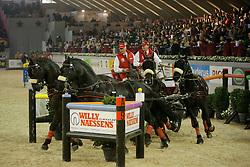 Schrijvers Gert (BEL)<br /> Four-In-Hand Driving<br /> CSI-W Mechelen 2008<br /> © Hippo Foto - Dirk Caremans