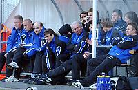 Fotball eliteserien 17.04.05 Molde - Start 0-1<br /> Molde-benken med ny trener Bosse Johansson i venstre billedkant<br /> Foto: Carl-Erik Eriksson, Digitalsport