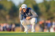 Bernd Wiesberger (AUT) surveys the line of his putt on the 18th green during the final round of the Aberdeen Standard Investments Scottish Open at The Renaissance Club, North Berwick, Scotland on 14 July 2019.